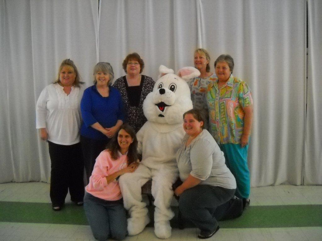 Elks Auxiliary with easter bunny