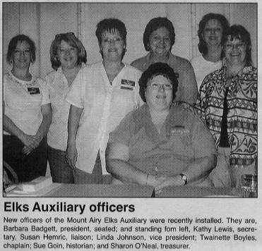 Elks auxiliary officers