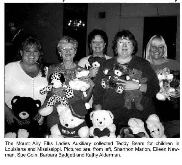 Elks auxiliary donates teddy bears to children in Mississippi